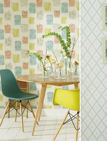 A modern day take on the 1950's wall trend