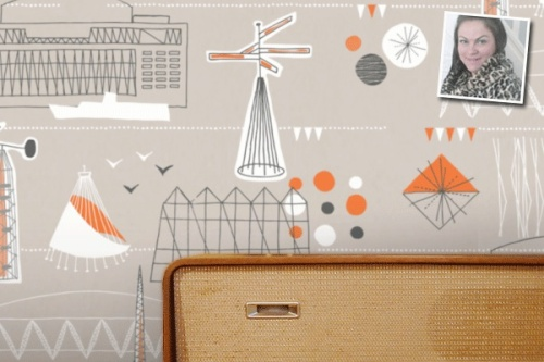 festival stones wallpaper by mini moderns
