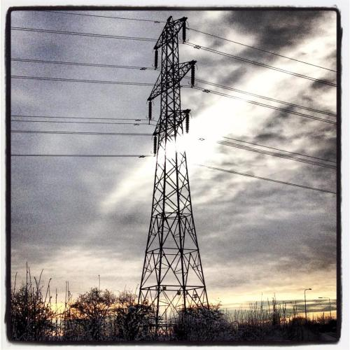 winter pylons